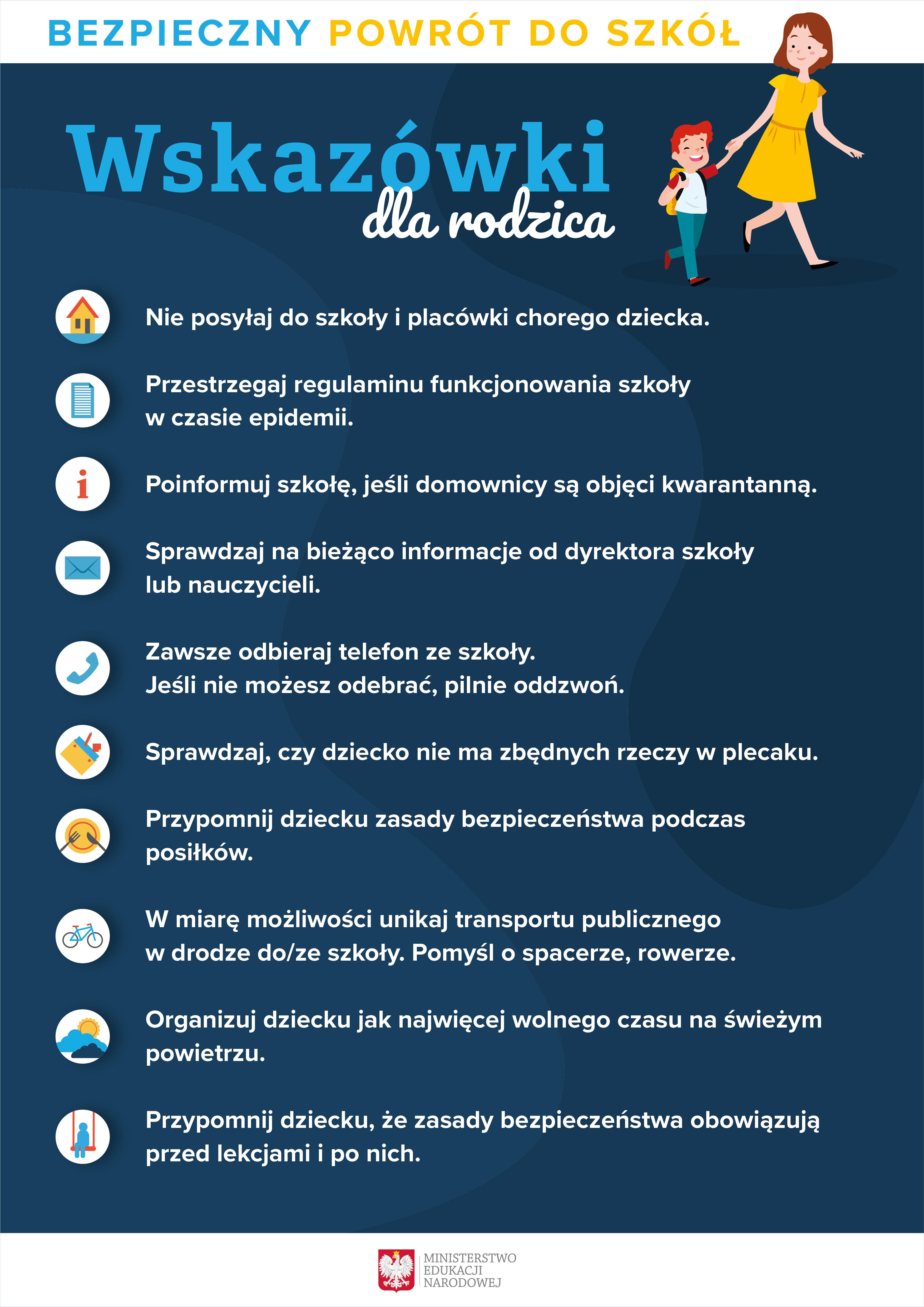 COVID-19 wskazówki dla rodzica